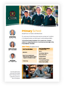 Primary School Information
